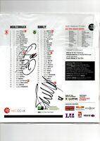 Multi Signed Middlesbrough V Burnley Programme Plus Ticket