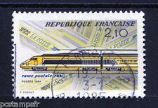 FRANCE 1984, timbre 2334, TRAIN, TGV POSTAL, oblitéré, cachet rond, VF stamp