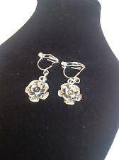 Rose clip on earrings
