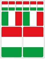 Set 10 Adesivi in Vinile Bandiera Italiana Italia Italy Flag Vinyl Stickers Auto