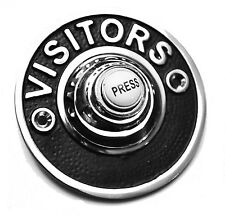 """Polished Chrome Visitor 3"""" Circular Victorian style Door Bell Push Switch BC1421"""