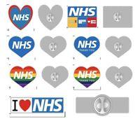 NHS STAFF ENAMEL PIN BADGE - Rainbow, LGBT, Thank you, Nurse, Doctor, Heart