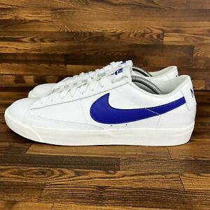 Nike Blazer Low (Men's Size 10.5) Leather Athletic Sneaker Trainer Shoes White