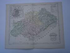 Carte 19° 1852  couleur atlas Malte brun Département de l'Hérault  Montpellier