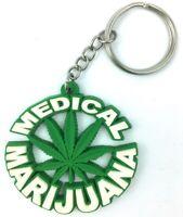 Badass Keychain Medical Marijuana Leaf Weed 420 Cannabis Zipper Pull Rubber