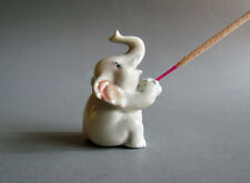 Ceramic Incense Holder Miniature Animal Figurine Home Decor Gray Elephant Gifts