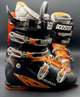 Head Edge Plus 10 Ski Boots Size 10 (28/28.5) Black And Orange w/Soft Walk Grip