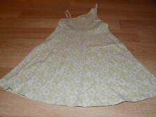 Girls Size 7 Gymboree Beach Shack Sage Green White Floral Print Knit Dress EUC