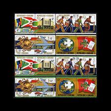 Burundi, Sc #460-67, C199-02, MNH, 1974, UPU, Mailmen, Flags, CL107F