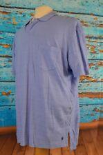 NEW Ralph Lauren Men's Pocket Polo Shirt Size XL Linen Blend Colorful $59 Blue