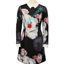 Ted Baker London Black Kaleesa Chelsea Flower Collar Dress Size 1 (US 4) $268