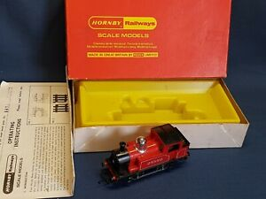 HORNBY R455 0-4-0 RED INDUSTRIAL TANK LOCO 25550 CHROME DOME EXCELLENT BOXED