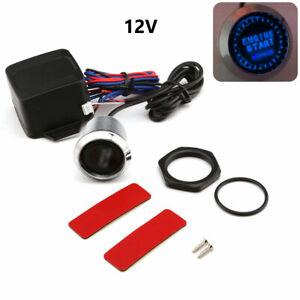 Car Engine Start Blue LED Keyless Entry Push Start Button Switch Lgnition