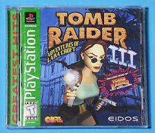 Tomb Raider III: Adventures of Lara Croft (Sony PlayStation 1, 1998) COMPLETE!