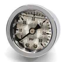 La pressione dell'olio manometro visualizzazione la pressione dell'olio argento per HD Harley Davidson Hot Rod Custom