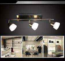 LED Deckenlampe SX8228-03A   3x5W Deckenleuchte Balken  Nickel matt Glas