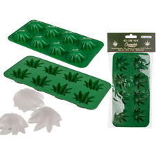 Cannabis Leaf Weed Ice Cube Tray Novelty Mould Chocolate Jelly Hippy Party Drink