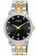 New Citizen Men's Dress Crystal Two Tone Stainless Steel Watch BI5034-51E