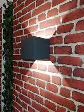 Eckige LED Außenwandleuchte Up Down anthrazit Außen Lampe Wandlampe Außenleuchte
