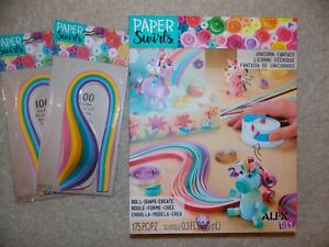 Alex DIY Paper Swirls Unicorn Fantasy w/2 paper packs