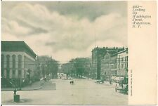 Looking Up Washington Street in Watertown NY Postcard