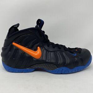"""Nike Air Foamposite Pro """"Knicks"""" Black/Blue/Orange Men's Size 10.5 624041-010"""