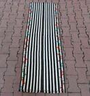 Oushak Flatweave Vintage Kilim Runner Rug Turkish Tribal Striped Carpet 2x5 ft