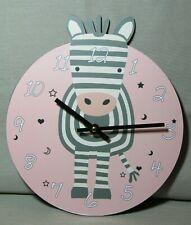 U118 Wanduhr Zebra Uhr für Kinder  (kleine, große und ganz große)