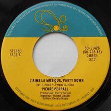 PIERRE PERPALL J'aime la musique Ex CANADA FUNKY DISCO PROMO 1979 45 HEAR!!!