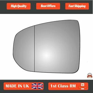 Left Passenger Wide Angle Wing Mirror Glass For Nissan 370Z 2009-2018 483LAS