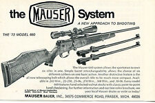 1972 Print Ad of Mauser Bauer Model 660 Rifle