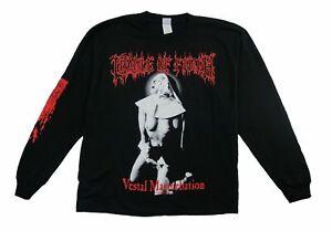 Cradle of Filth Vestal Masturbation Long Sleeve T Shirt (Large) NOS Blue Grape