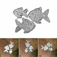 1Set Fish DIY Metal Cutting Dies Stencil Album Stamp Paper Card Embossing Craft