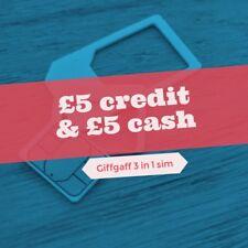 Giffgaff SIM for Tracker, Smartwatch, GSM, 2G, 3G, 4G, Kids, Pet, Elderly. £10.