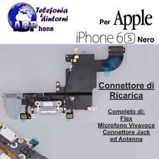 Connettore Ricarica Dock Flex Jack Cuffia Microfono Antenna Apple iPhone 6S Nero