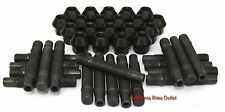 20 PC BIMECC HUB STUD CONVERSION KIT INC 20 BLACK LUG NUTS BMW F10 528 535 550