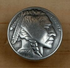 INDIAN HEAD NICKEL TACK ~ Decorative Upholstery Craft Nail { Set of 6 } by PLD
