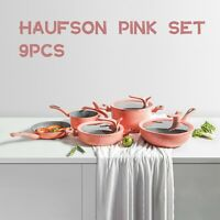 Non Stick Cooking Set Works with Induction hob PFOA Free Non-Stick Haufson