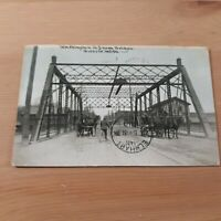 Shiawassee River Washington Street from Bridge Owosso MI Michigan 1910 Postcard