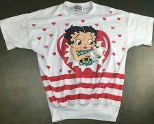 Vintage Women's M/L 1988 Betty Boop w/ Dog Cute Graphic Blouse T-Shirt