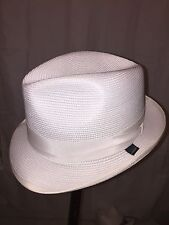 820) NWT auth STETSON GLAZED PAPER Latte HAT design sample SIZE M retail:  $199