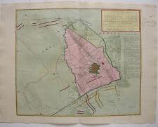 Krefeld assedio siebenjähr guerra RARE ORIG scheda KUPFERSTICH Tirion 1758