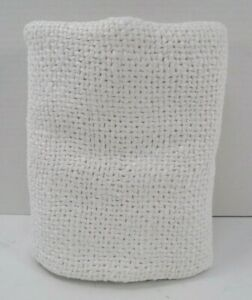 """Pottery Barn Faye Linen Textured Pillow Cover 24"""" White #9225"""