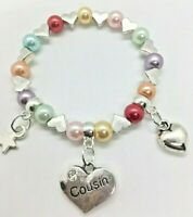 BABY SHOWER charm bracelet gift bag /& tag 30 COLOUR CHOICE