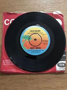 "Roxy Music - Love Is The Drug - UK 1975 Island Records WIP 6248 Vinyl 7"" Single"