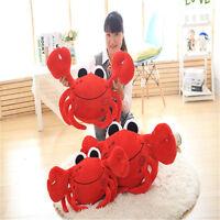 55cm Red Crab Pillow Plush Portunid Cushion Stuffed Animal Soft Toys Doll Gift