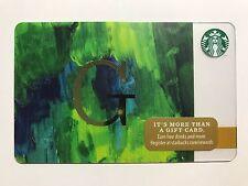 STARBUCKS Card Christmas 2014 Monogram Alphabet Series Letter G - Free Shipping