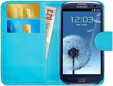 Premium Luxury Leather Flip Wallet Book Case Cover For Samsung Galaxy S3