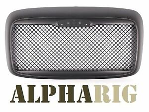 2000-2008 BLACK CUSTOM MESH GRILLE Freightliner Columbia RARE W/ BUG SCREEN