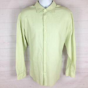 Banana Republic mens size 16-16 1/2 light green collared long sleeve dress shirt